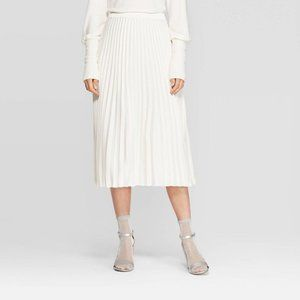 a New Day High-Rise Pleated A-Line Midi Skirt